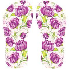 Estampa para chinelo Floral 000573
