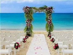 A perfect wedding ceremony.just not this color scheme. Wedding Set Up, Perfect Wedding, Wedding Events, Dream Wedding, Wedding Beach, Beach Weddings, Beach Ceremony, Wedding Ceremony, Best Destination Wedding Locations