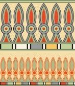 Colorful ancient egyptian ornament stock photography