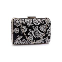 Black Purses, Elegant Dresses, Evening Dresses, Coin Purse, Satin, Wallet, Floral, Silver, Bags