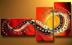 Bedroom Wall Art, Canvas Painting, Large Painting, Red Abstract Art, A – Art Painting Canvas 3 Piece Canvas Art, 3 Piece Wall Art, Canvas Wall Art, Hand Painting Art, Large Painting, Oil Painting Abstract, Painting Canvas, Red Abstract Art, Abstract Canvas