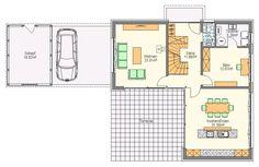 Dog Trot Weekend House In Buš / Markéta Cajthamlová. See More. Floor Plan