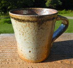 Shino mug coffee mug wood-fired split-fire by splitfirepottery