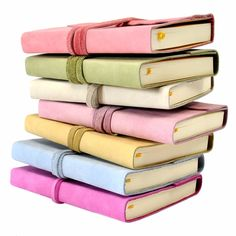 Pastel Gelato Italian Leather Wrap Journal - Jenni Bick Bookbinding