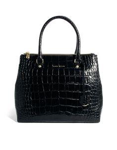 Karen Millen Multi Zip Croc Bag