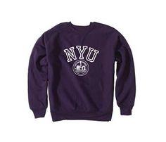 New York University Bookstores - NYU Crew Sweatshirt with Seal
