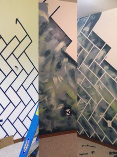 Create fun patterns with painters tape to make any room more dynamic ...