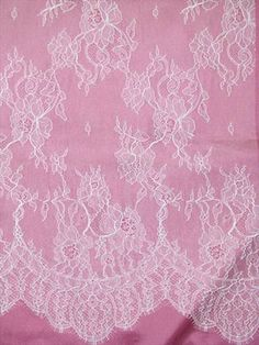 Chantilly Lace CL52424 White - Bridal Fabric by the Yard