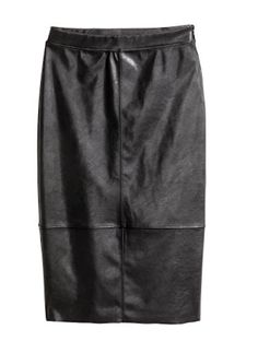 H&M Imitation Leather Skirt  - 15 Office Approved Looks You Can Wear From Work To Play