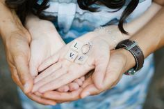 Love. Rustic wedding. Scrabble letters. Engagement photo session.