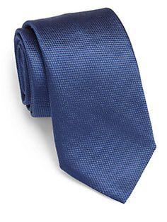 Armani Collezioni - Textured Silk Tie - Saks Fifth Avenue