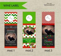 etichette bottiglie VINO Natale di Tempodifesta su Etsy, €8.00