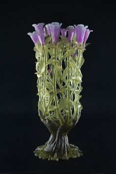 Art Glass by Evelyn Dunstan - a nice clear glass insert inside and voila, an amazing vase.