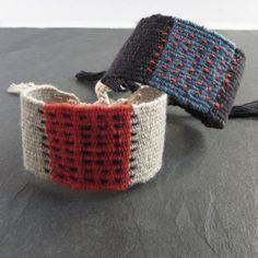 Textile Jewelry, Boho Jewelry, Handmade Jewelry, Jewellery, Wolf Necklace, Textiles, Artisan Jewelry, Hand Weaving, Cuff Bracelets