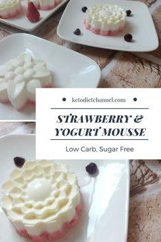STRAWBERRY & YOGURT MOUSSE – Low Carb, Sugar Free