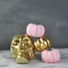 DIY Metallic Skull  
