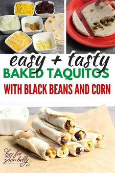 Creamy black beans combine with the sweetness of kernel corn for a delicious and easy lunch, snack, or party appetizer. You'll love these black bean taquitos #blackbeantaquitossrecipe #easyblackbeantaquitos #vegetarian #bakedblackbeantaquitos Fancy Appetizers, Vegetarian Appetizers, Easy Appetizer Recipes, Vegetarian Recipes, Thanksgiving Appetizers, Dinner Recipes, Lunch Snacks, Yummy Snacks, Healthy Snacks