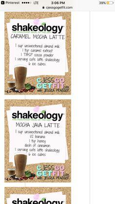 Herbalife F1, Latte Cups, Cashew Butter, Unsweetened Almond Milk, Shakeology, Mocha, Oatmeal, Vanilla, Recipes