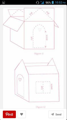 How to Make a Cardboard Cat Playhouse Cardboard Cat House, Cardboard Box Crafts, Cardboard Toys, Diy Crafts For Girls, Diy Crafts Hacks, Diy For Kids, Cat Playhouse, Cardboard Playhouse, Cat House Diy