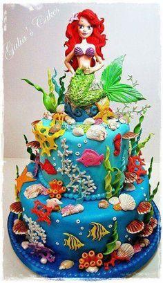 Torta. Ariel la sirenita
