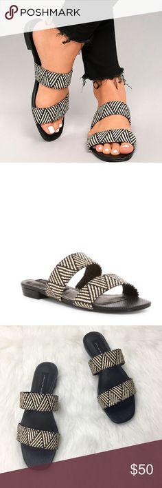 a576ed2a497 STEVE MADDEN Friendsy Slide Sandal The Steven by Steve Madden Friendsy  Black Multi Slide Sandals will