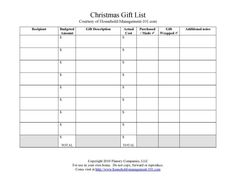 Here's a free printable Christmas gift list for you with a twist. This list not only allows you to keep track of what you plan to give to different members of your family or friends this Christmas season, but also allows you to track your Christmas budget for gifts at the same time. That's a huge help to keep you from overspending! {on Household Management 101}