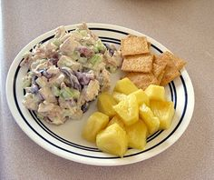 Heavenly Chicken Salad with fresh pineapple
