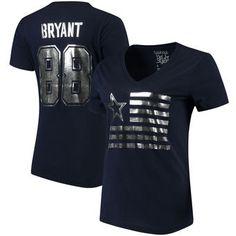 $31.49--Dez Bryant Dallas Cowboys Women's Foil Field Name & Number T-Shirt - Navy