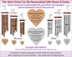 Child Memorial Wind Chime The Perfect Personalized Sympathy Gift