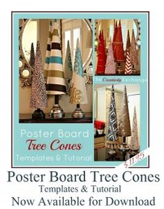Templates & Tutorial for Making Poster Board Tree Cones- The Creativity Exchange
