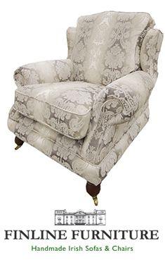Alexandra Chair in Cambridge Pattern Side