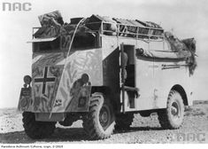 Armoured command car of Generaloberst or Generalfeldmarschall Erwin Rommel, North Africa, He was promoted during 1942 Army Vehicles, Armored Vehicles, Military Photos, Military History, Afrika Corps, North African Campaign, Jeep, Germany Ww2, Ww2 Tanks
