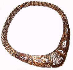 Art Deco Rhinestone Necklace Choker by BrightgemsTreasures on Etsy