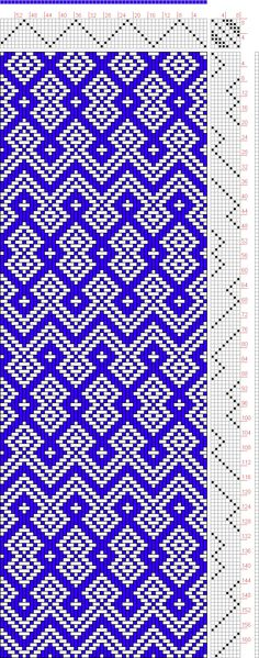 Try turning it Weaving Designs, Weaving Projects, Weaving Patterns, Quilt Patterns Free, Textile Patterns, Knitting Patterns, Card Weaving, Tablet Weaving, Loom Weaving