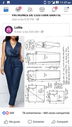 - Jumpsuits and Romper Dress Sewing Patterns, Clothing Patterns, Fashion Sewing, Diy Fashion, Sewing Clothes, Diy Clothes, Hijab Fashion, Fashion Dresses, Crochet T Shirts