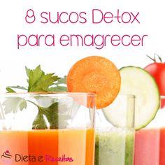 Mais dicas #detox por aqui:  listinha de #sucosdetox pra emagrecer! Encontre no  www.dietaereceitas.com.br/dieta-detox/cardapio/sucos-detox-para-emagrecer-3011