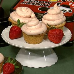 Carla's Peanut Butter and Jelly Cupcakes.