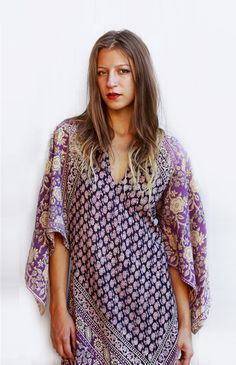 Tavin Boutique - Purple Indian 70's Dress