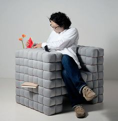 "A sofa for all of your stashing needs. Called ""Lost in Sofa"" designed by Daisuke Motogi."