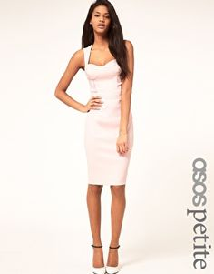 ASOS PETITE Pencil Dress With Cut Out Back