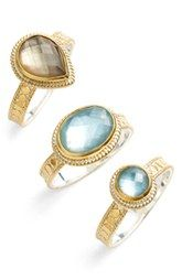 Anna Beck 'Gili' Stackable Stone Rings (Set of 3)