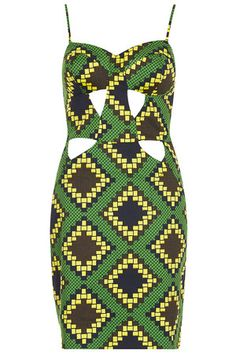 Topshop Aztec Cupped Shift Dress worn by Vanessa White