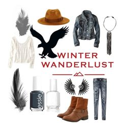 """""""Winter Wanderlust with American Eagle: Contest Entry"""" by joellesmolenaers on Polyvore featuring mode, American Eagle Outfitters, Essie en aeostyle"""