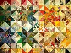 Easy Triangle Quilting Patterns--Many great ideas here, including some simple advice.  Go here first when you are designing a quilt.