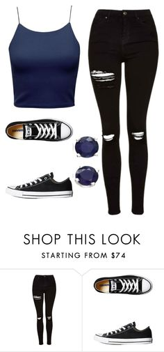"""Untitled #448"" by cuteskyiscute on Polyvore featuring Topshop, Converse and Effy Jewelry"