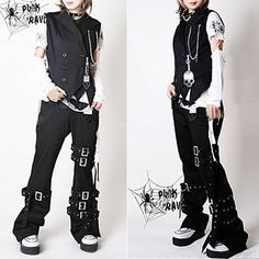 Plus Size Available Punk Rock Goth Fashion Pants Trousers Men Women SKU-11404004