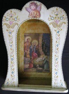 Carla Artes Manuais: Presépio/Oratório-Nascimento do Menino Jesus
