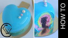 Shiny Mirror Glaze Rainbow Bubblegum Cheesecake No Bake Entremet