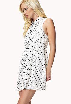 Polka Dot Shirt Dress   FOREVER 21 - 2054172734