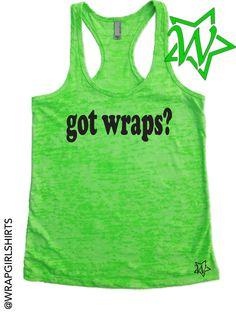 GOT WRAPS Body Wrap Racerback Burnout Tank for by WrapGirlShirts